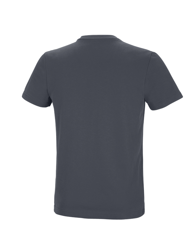 Shirts & Co.: Funktions T-Shirt + anthrazit