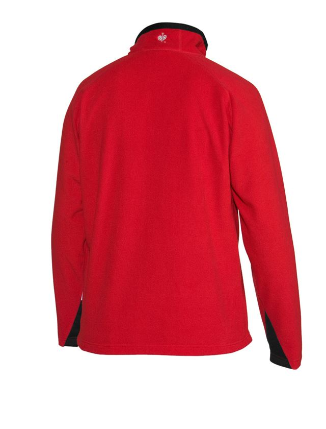 Shirts & Co.: Microfleece-Troyer + rot