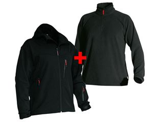 Aktion: Softshell-Kapuzenjacke + Troyer