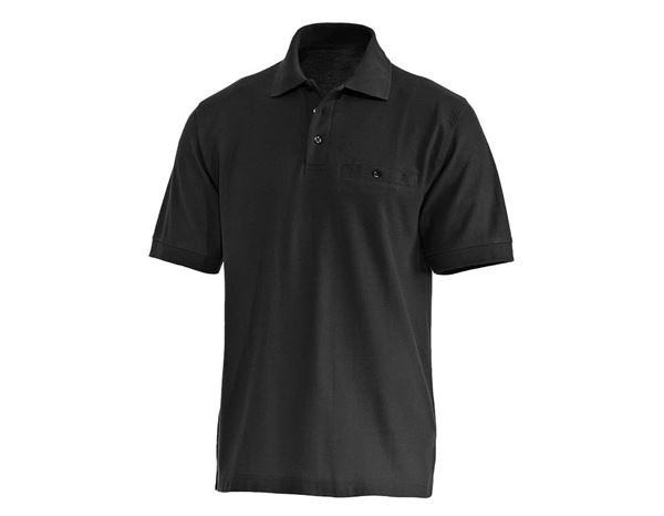 Polo-Shirts: Piqué-Shirts + schwarz