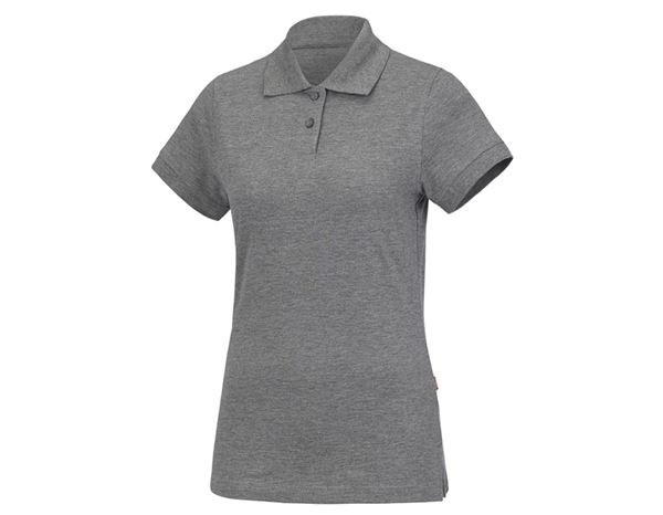 Shirts & Co.: Damen Polo-Shirt + graumeliert