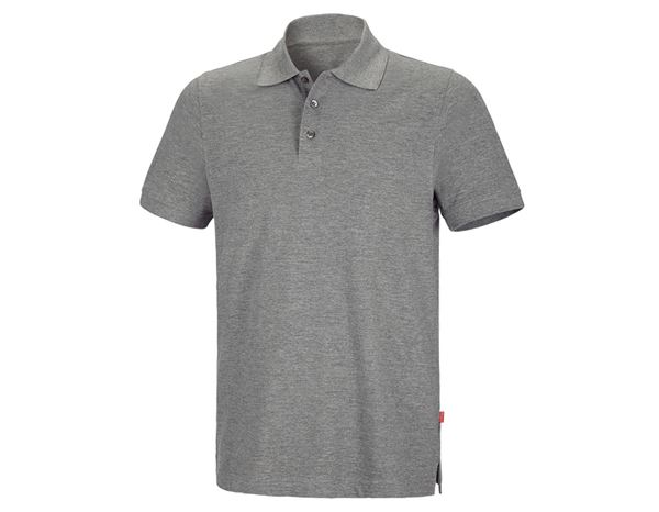 Shirts & Co.: Polo-Shirt + graumeliert