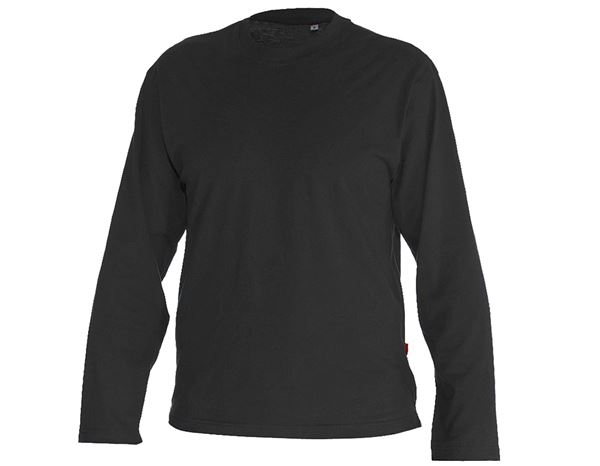 Shirts & Co.: Longsleeve + schwarz