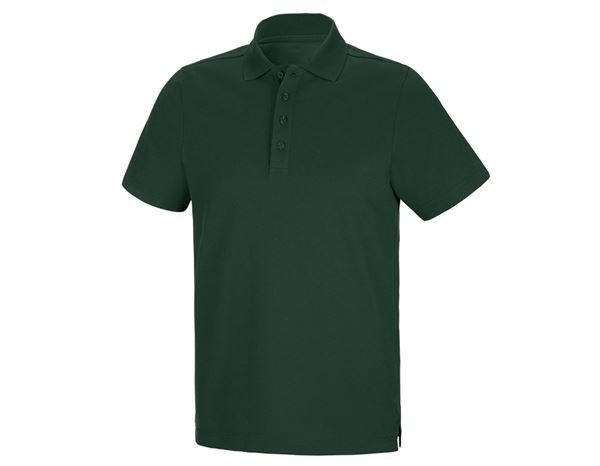 Polo-Shirts: Funktions Polo-Shirt + grün
