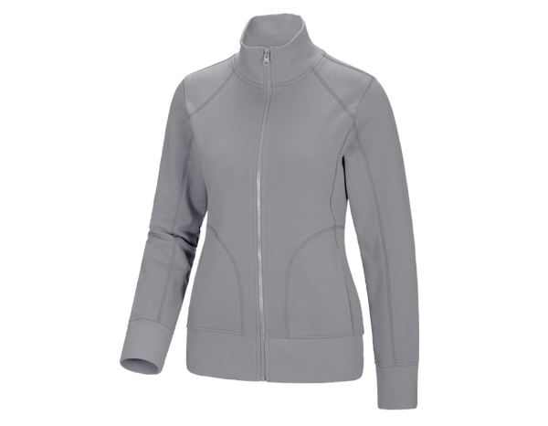 Shirts & Co.: Damen Sweatjacke + platin