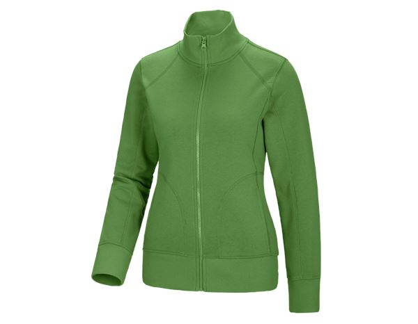 Shirts & Co.: Damen Sweatjacke + seegrün
