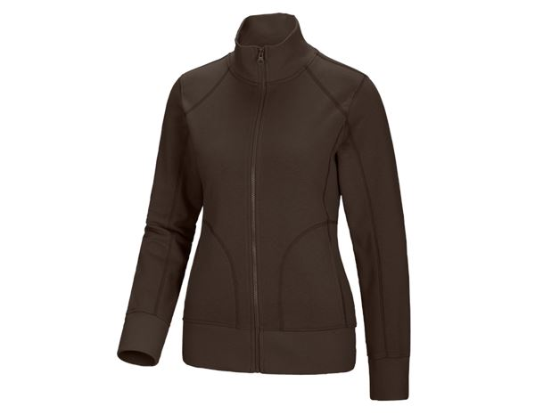 Shirts & Co.: Damen Sweatjacke + kastanie