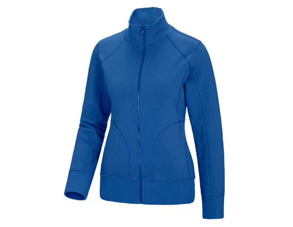 Shirts & Co.: Damen Sweatjacke + enzianblau