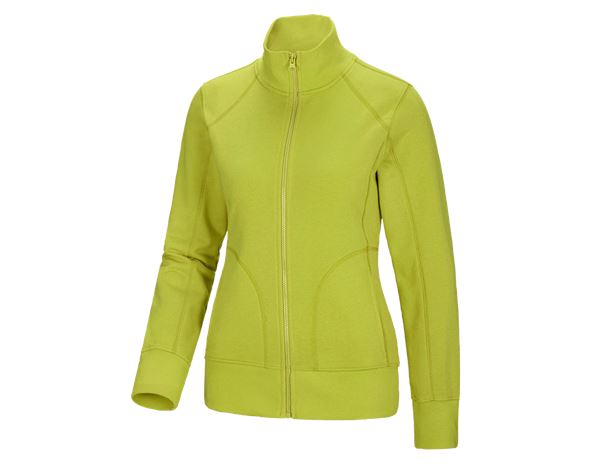 Shirts & Co.: Damen Sweatjacke + maigrün