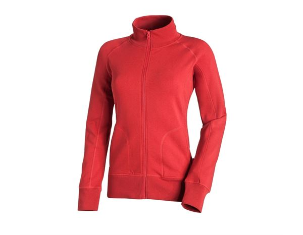 Shirts & Co.: Damen Sweatjacke + feuerrot