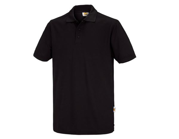 Shirts & Co.: STONEKIT Polo-Shirt Basic + schwarz