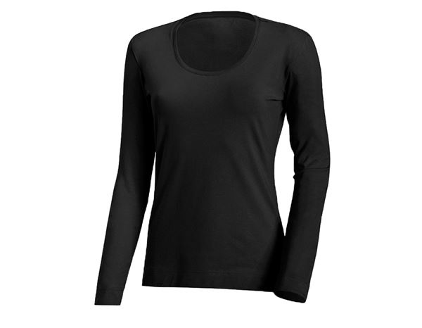 Shirts & Co.: Damen Longsleeve + schwarz
