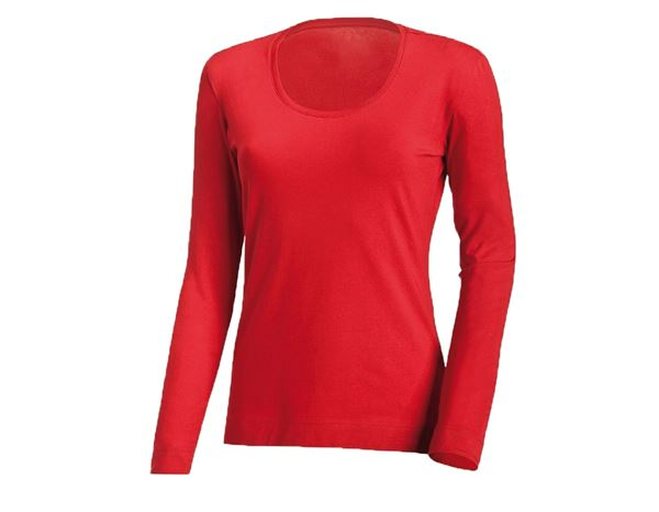 Shirts & Co.: Damen Longsleeve + feuerrot
