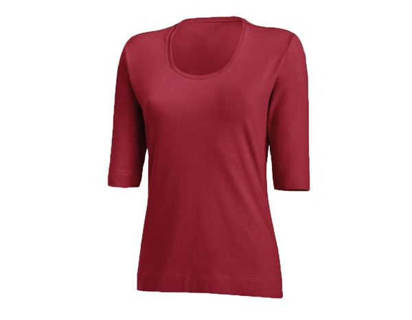 Shirts & Co.: Damen Shirt 3/4-Arm + bordeaux