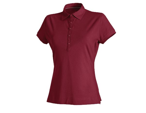 Shirts & Co.: Damen Polo-Shirt + bordeaux