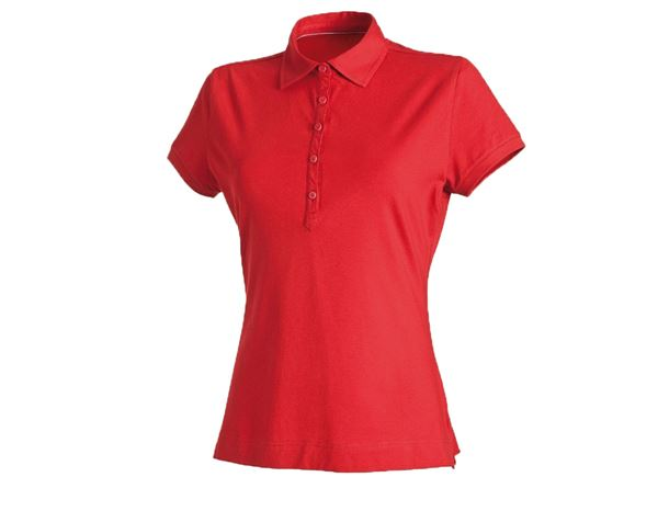 Shirts & Co.: Damen Polo-Shirt + feuerrot