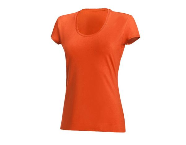 Shirts & Co.: Damen T-Shirt, rundhals + nektarine