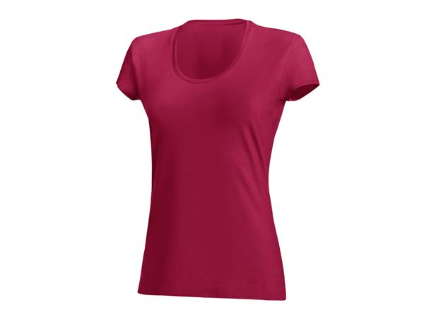 Shirts & Co.: Damen T-Shirt, rundhals + beere