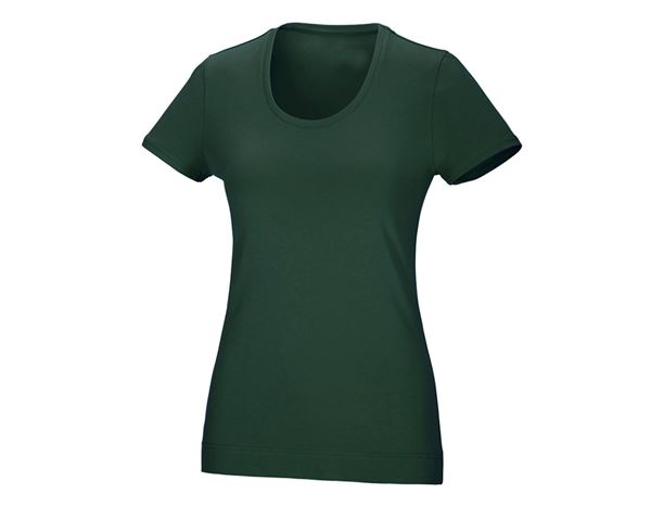 Shirts & Co.: Damen T-Shirt, rundhals + grün
