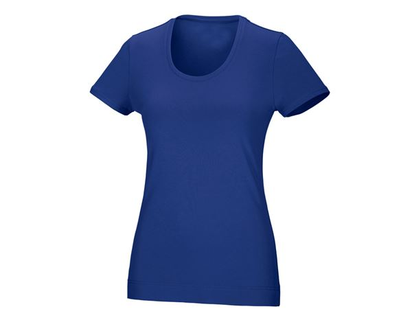 Shirts & Co.: Damen T-Shirt, rundhals + kornblau
