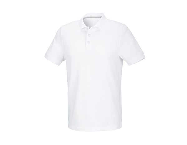 Shirts & Co.: Piqué-Polo cotton stretch, regular fit + weiß
