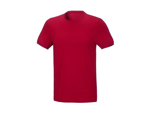 Shirts & Co.: T-Shirt cotton stretch, slim fit + feuerrot