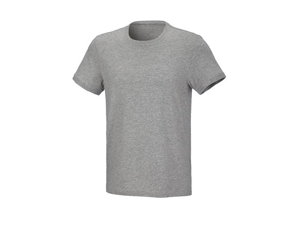 Shirts & Co.: T-Shirt cotton stretch, regular fit + graumeliert