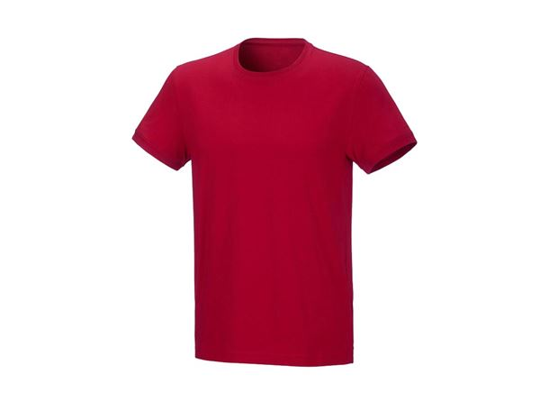 Shirts & Co.: T-Shirt cotton stretch, regular fit + feuerrot