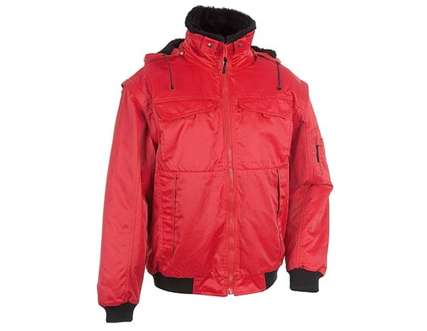 Jacken: 4-in-1 Pilotenjacke + rot