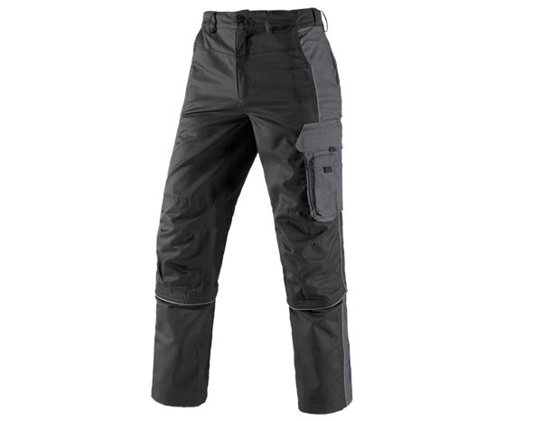 Hosen: Zip-Off Bundhose active + schwarz/anthrazit